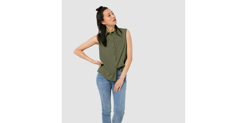 Sonora Sleeveless Shirt W light moss