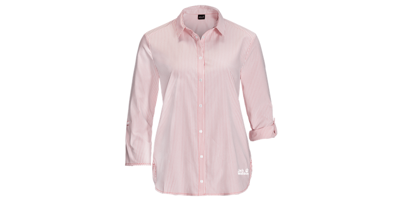 South Port Shirt W tulip red stripes